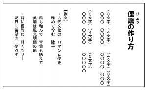 『俚謡の作り方・例文』の画像
