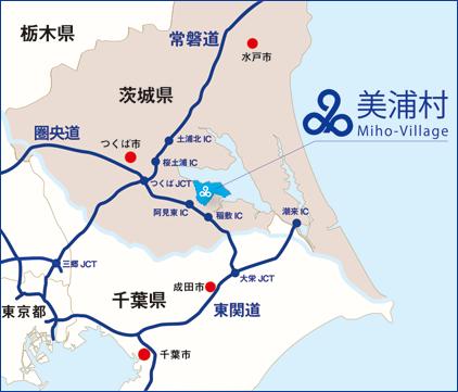 『美浦村までのマップ』の画像