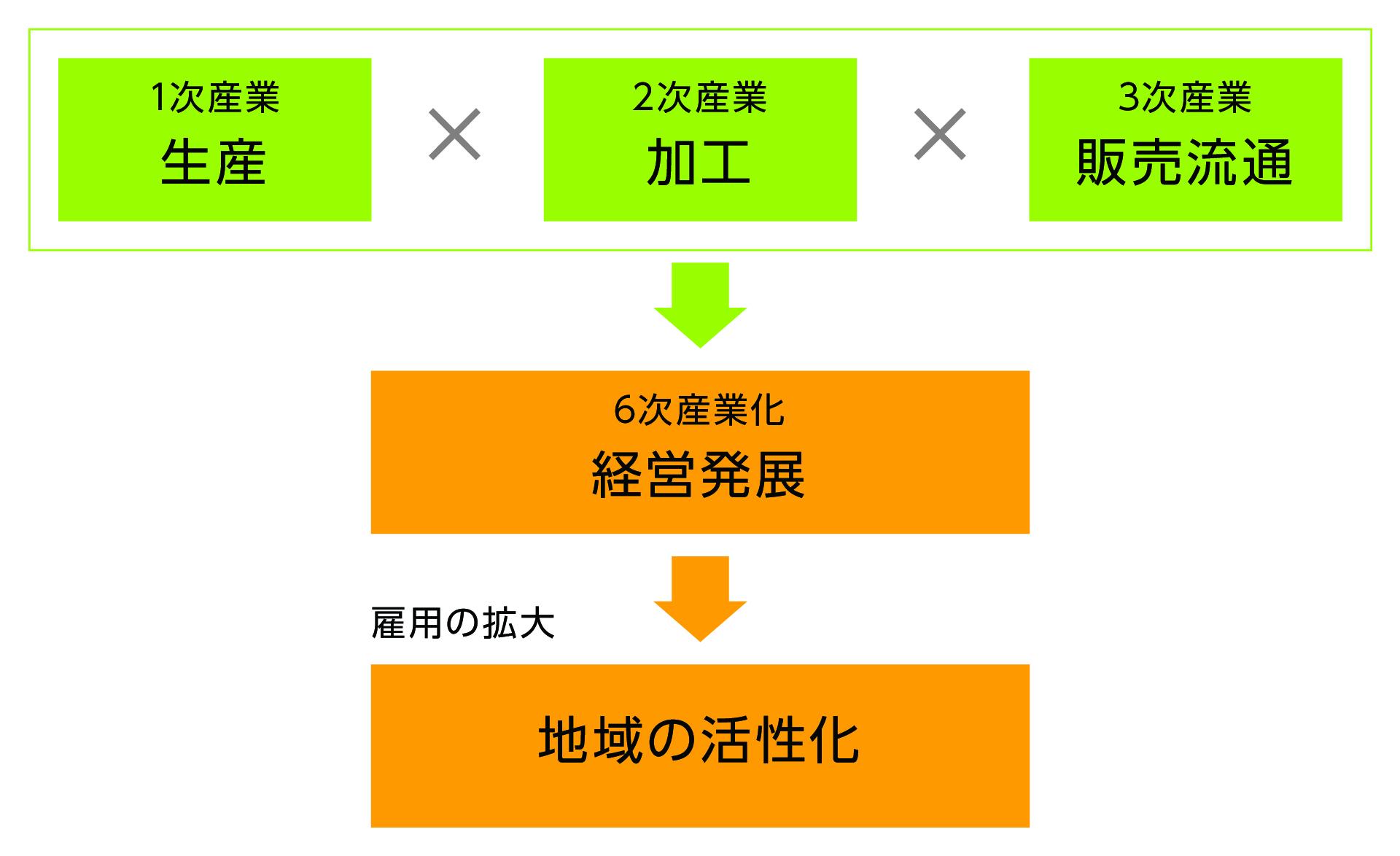 『6次産業化の概念図』の画像