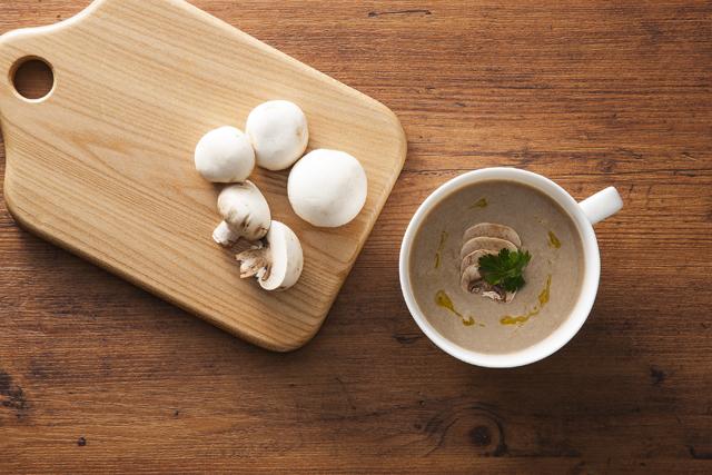 『美浦産マッシュルームのスープ02』の画像